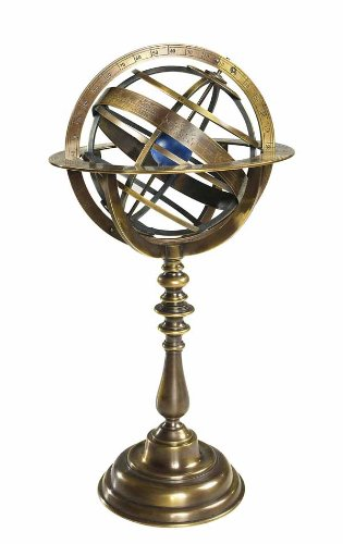 Authentic Models GL052 - Globus - Armillarsphäre - Bronze - Museumsqualität - Originalgetreues Replikat - Höhe 36,5 cm Ø 18,5 cm