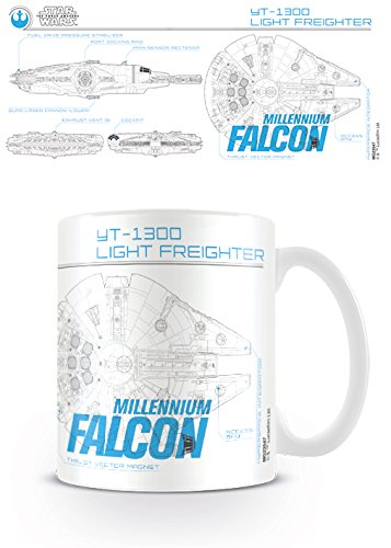 I Millennium Falcon Sketch 11oz/315ml Kaffeetassen Mehrfarbig ()