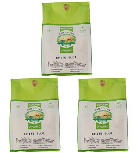 ELWORLD AGRO & ORGANIC FOOD PRODUCTS White Suji Semolina Flour- 500gX2 – Pack of 2