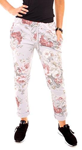 Easy Young Fashion Damen Sweathose Rosen-Print gefunden bei ... 52f782f390