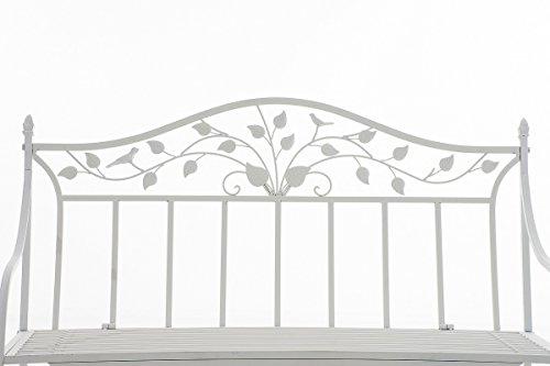 CLP Gartenbank ABIONA im Landhausstil, Eisen lackiert (Metall) ca 110 x 50 cm Weiß - 2