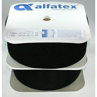 4m Alfagrip Klettband (4m Haken- und 4m Flauschband) - 100mm breit - schwarz