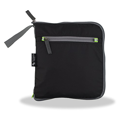 The Friendly Swede faltbare Reisetasche 48 Liter - Sporttasche, Duffle Bag inklusive Kofferschloss (schwarz) schwarz