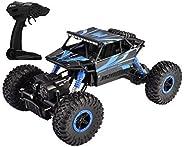 Popsugar - THRC699-103BL 4 Wheel Drive 1:18 Rock Crawler Off Roader Monster Truck with 2.4GHz Remote Control R