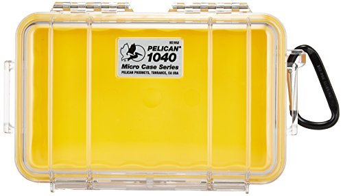 Pelican 1040 Micro Dry Case /Snorkelers/Kayakers - Yellow w/ clear lid Pelican 1040 Micro Case