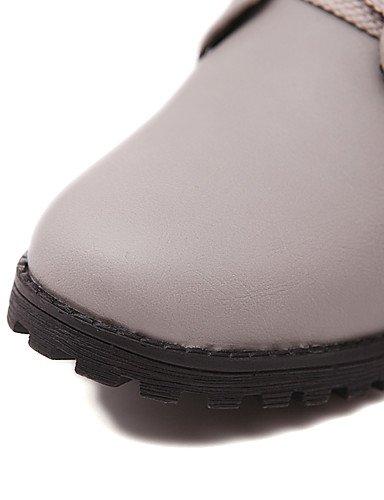 ShangYi Mode damenschuhe stiefel schuhe Mode für Frauen / Stiefelette Kunstleder Outdoor / Büro & Karriere / and Low Heel OthersBlack / Gelb Grün
