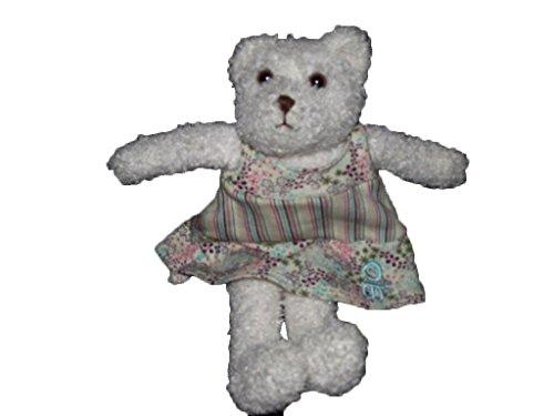 Obaibi / Okaidi - Doudou Obaibi Okaidi ours chien blanc robe bleu rose 25cms - 4734