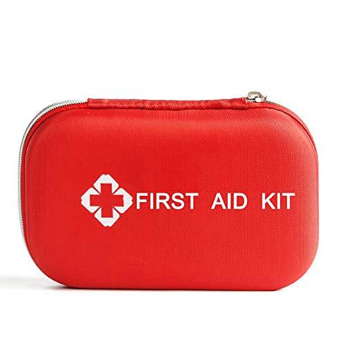 YGRSJ Outdoor Erste-Hilfe-Kasten, 177 kleine Erste-Hilfe-Kasten, einschließlich Einer Rettungsdecken-Verbandschere für das Auto-Camping-Reise-Home-Office (rot)