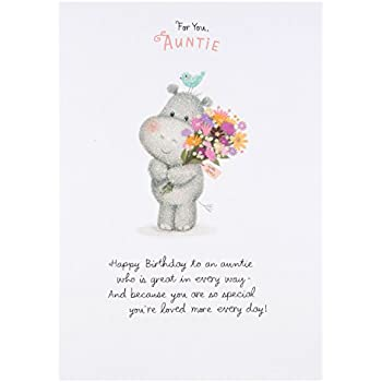 Hallmark 25452012 Auntie Birthday Card Loved More Everyday