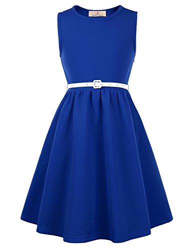 GRACE KARIN Maedchen Vintage Kleid 1950er Retro Kleid 10-11 Jahre CL10482-6
