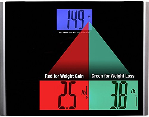 Ozeri Pro II Pèse-personn 200 kg/440 lbs Poids balance de salle de bain numérique avec changement Technologie de détection