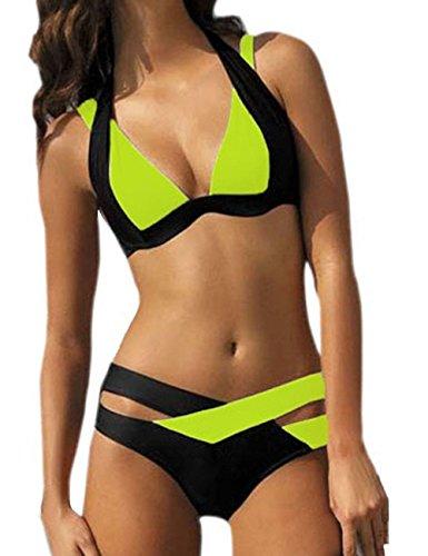 Ninimour Donna Costumi da Bagno Benda Cut Swimwear Bikini Set