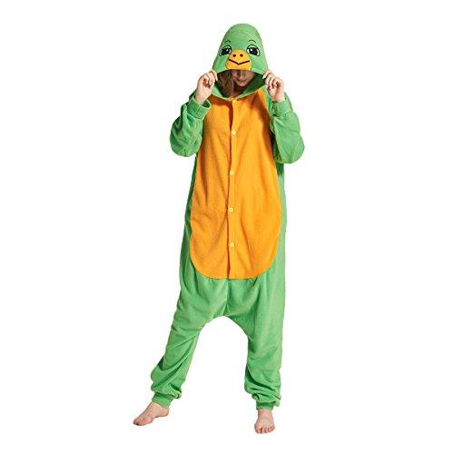 ostüm Unisex Kigurumi Onesies Pyjamas Bequemen Loungewear Sleepsuits Schildkröte Klein (Erwachsene Schildkröten Kostüme)