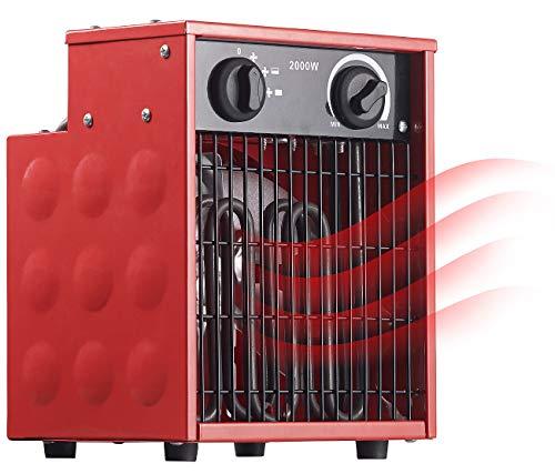 AGT Bauheizlüfter: Profi-Industrie-Elektro-Heizlüfter mit 2.000 Watt und 2 Heizstufen (Bauheizer)
