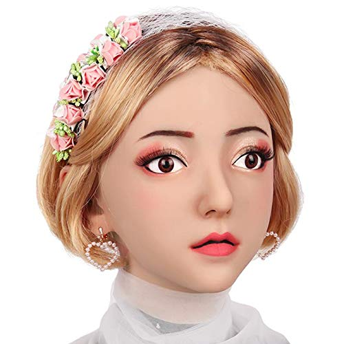 SZANDY Realistische Cosplay Maske Avila Sex Style Weiche Silikon Weibliche Kopf Masken Handgemachte Make-Up Transgender Maskerade Party - Asiatische Augen Kostüm Brille