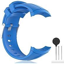 Cyeeson Suunto Spartan Ultra montre de montre de rechange Band doux Bracelet en silicone Sangle montre intelligente Bracelet Band pour Suunto Spartan Ultra/Ultra HR GPS Smart Watch