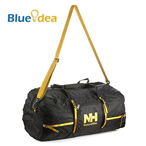 Blueidea® 38 litri Borse pieghevole esterno di sport Ultralight borsa da viaggio unisex impermeabile Deposito sacchetto multifunzionale di nylon singola spalla Bag (Nero)