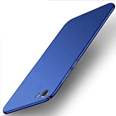 Sunny Fashion All Angle Protection 360 Degree Ultra-Slim Lightweight Matte Hard Case Back Cover for Vivo V5 - (Blue)