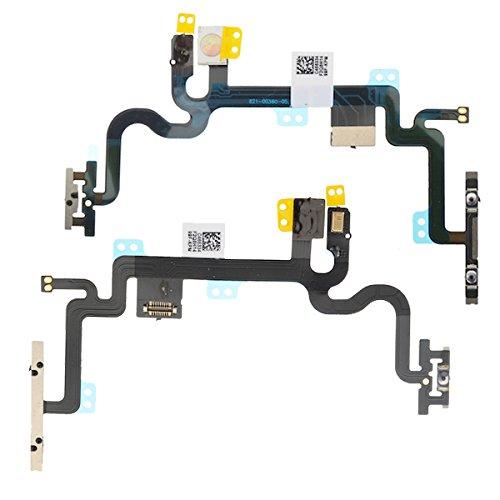 BisLinks® Für Apple iPhone 7 Schalter Power Volumen Button On/Off Control Flash Licht Mic Microphone & Stumm Button Flex Kabel Ribbon Ersatz Teil (Ribbon Flex Cable Motherboard)