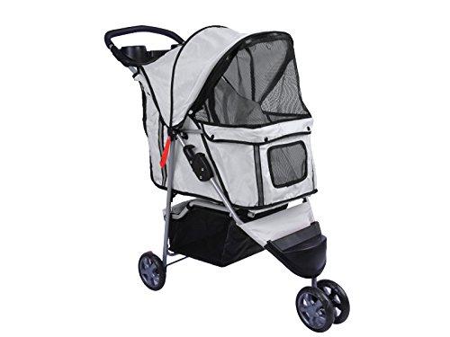 Varan Motors Kinderwagen für Tiere mit 3Rädern, Farbe Grau