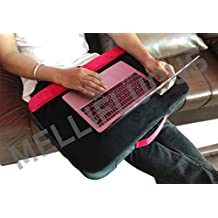 """Mellifluous Wooden Lapdesk for Laptop with Backside Foam Cushioned (20""""x15"""", Red-Black)"""