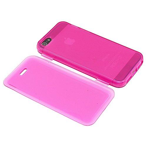 ebestStar - pour Apple iPhone SE 5S 5 - Lot x3 Housse Etui Coque Silicone Gel Portefeuille + Mini Stylet tactile + 3 Films protection écran, Couleur Transparent, Violet, Rose [Dimensions PRECISES de v Transparent, Violet, Rose