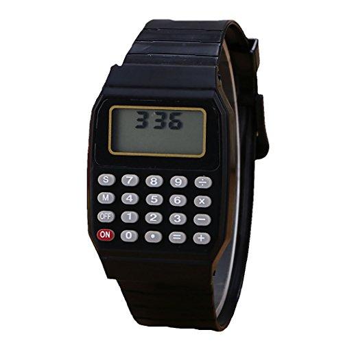 outgeek Taschenrechner Uhr Handgelenk Taschenrechner Mehrzweck Silikon Elektronische Taschenrechner Uhr für Kinder