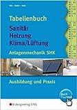 Tabellenbuch Sanitär, Heizung, Lüftung. Anlagentechnik SHK Ausbildung und Praxis (Lernmaterialien) ( 2014 )