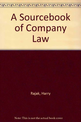 A Sourcebook of Company Law por Harry Rajak