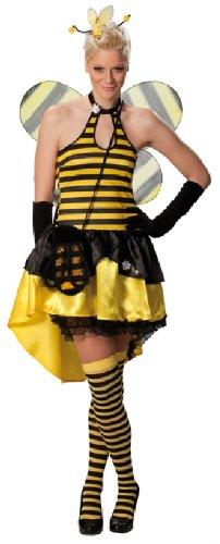 Biene Sexy Kostüme Damen (Karneval Damen Kostüm Sexy Biene Kleid als Tier an Fasching Größe)
