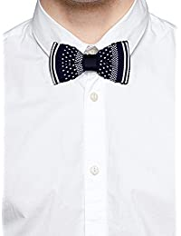 Tossido Knitted Blue Dotted Bow Necktie (TBNK37)