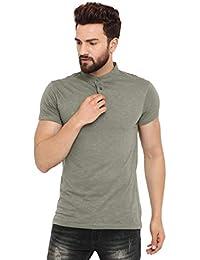 merchant of designs M O D Men s Mandarin Chinese Collar Polo Neck T-Shirt  for Men 8fe3259f5