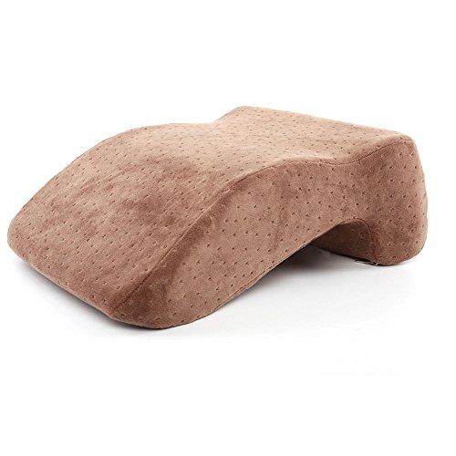 Brown Velvet Kissen (HFOUR Nap Sleeping Pillow - Kissen Memory Foam Langsames Rebound-Desk Nap-Kissen, Abnehmbare Waschbare Velvet Cover,Brown)