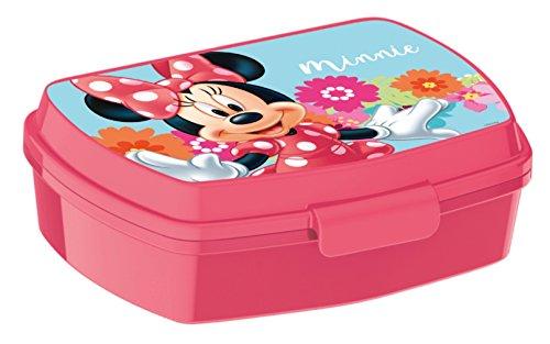 ALMACENESADAN 0417, Rechteckiger Mehrfarbiger Sandwich Maker Disney Minnie Maus, 15x10x5,5 cm