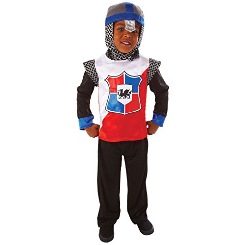 Kinder Knight of the Realm Fancy Dress Kostüm Outfit
