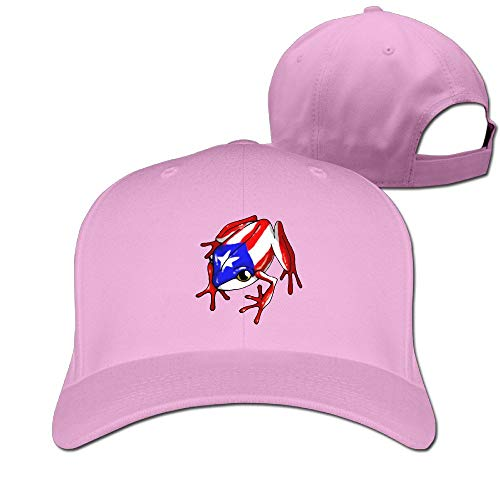 Puerto Rico Frog Plain Baseball Kappen Adjustable Snapback Hut Black New6 ()