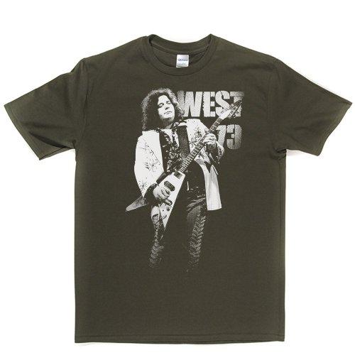 West 73 Guitar Hero Music Rock Tee T-shirt Militärgrün