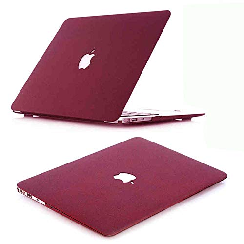 "J Quicksand Hard Shell Skin Cover Case for Apple MacBook Air 13"" Burgundy"