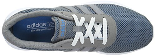 adidas Lite Racer, Chaussures de Sport Homme, Noir, 40.5 EU Gris - Grau (Solar Blue2 S14/Grey/Ftwr White)
