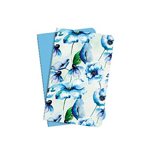 Sigel JN704 Set di 2 Taccuini a quaderno Jolie, copertina flessibile, 64 pagine a righe, circa A6, blu
