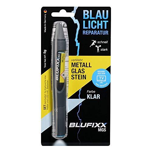 BLUFIXX MGS Set - KLAR - für Metall, Glas und Stein - NACHFÜLLKARTUSCHE
