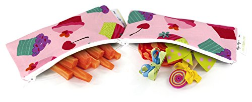 itzy-ritzy-snack-happened-mini-reusable-snack-bag-cupcake-couture-pack-of-2