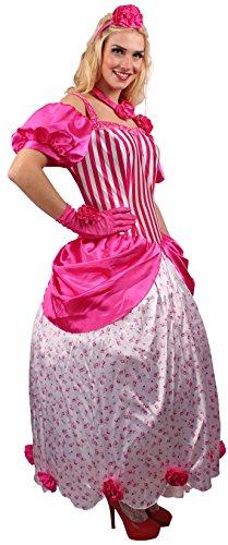 Rosenprinzessin Kostüm pink-weiß für Damen | 44/46 | 3-teiliges Märchen Kostüm | Prinzessinnen...