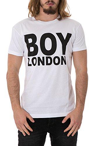 BOY LONDON - T-shirt uomo stampata regular fit bl602 Bianco