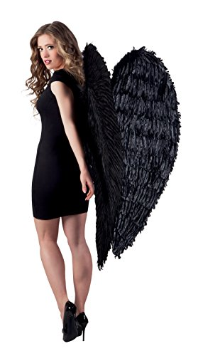 Boland 52817 - Engel Federflügel schwarz, 120 x 120 cm