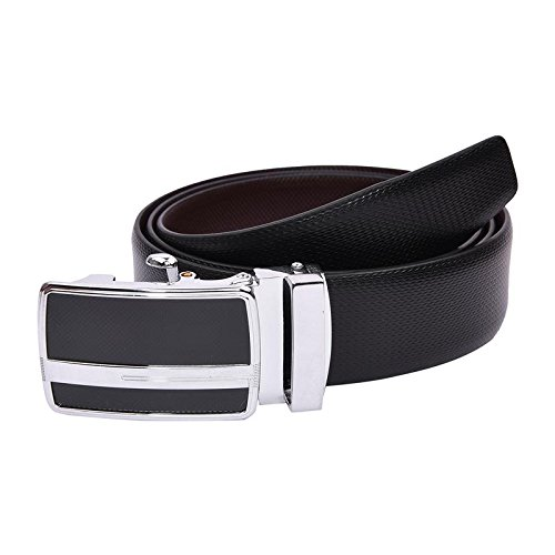 B&W Premium Reversible Belt for Men's- Leather- 35MM- Auto Lock Buckle(BW779)