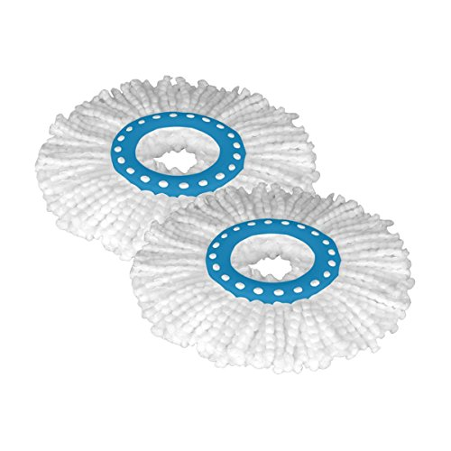 TAGLINE 360 Rotating Magic Mop Refill (Blue and White, Pack of 2)  available at amazon for Rs.235