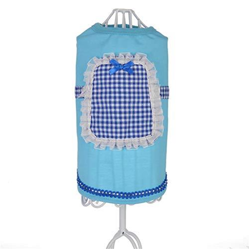 PZSSXDZW Pet Kleidung Frühling und Sommer Reines Dienstmädchen-Outfit Hundebekleidung Pet Kleidung Heimtierbedarf Blue Medium (Und Der Frosch-outfits Prinzessin)