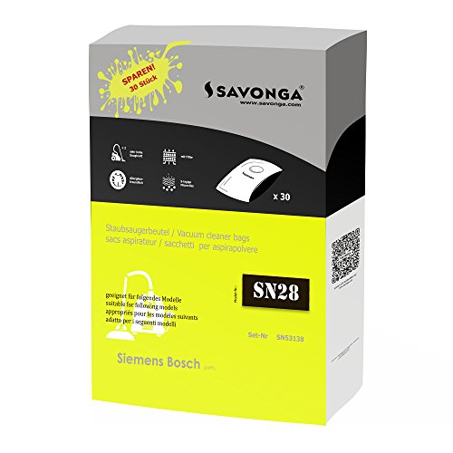 30 Staubsaugerbeutel + 1 Motor Filter + 1 Micro Filter für Privileg 63.872 | 100.983 | 101.144 und Siemens VS63A... | VS70C... | VS70D... | VS90A0000... 99A9999 | VSZ3... Serie-Z3.0 | VSZ4... Serie-Z4.0 | VSZ5... Serie-Z5.0 | VSZ6…Serie-Z6.0
