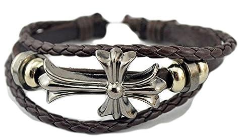 SaySure - Punk Style Men's Bracelet Exaggerate Long Arrow Hand